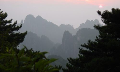 Picture of mountains in China