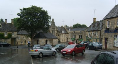 In danger of sleepwalking through life.  Picture of main square in Northleach, Glos, UK