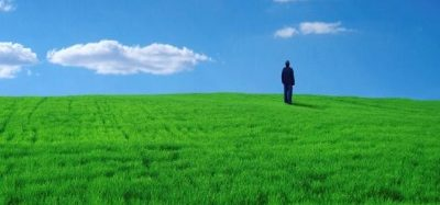 Picture of figure on hill