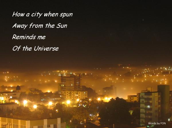 As above, so below! Picture of city and poem by FON