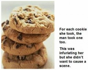 That takes the biscuit. Picture of cookies and associated text