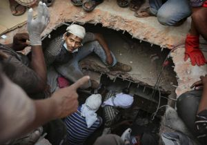 All along the Watchtower | Savar building collapse - image of building collapse in Savar nr Dhaka