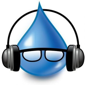 Tips on downloading music files - water & headphones