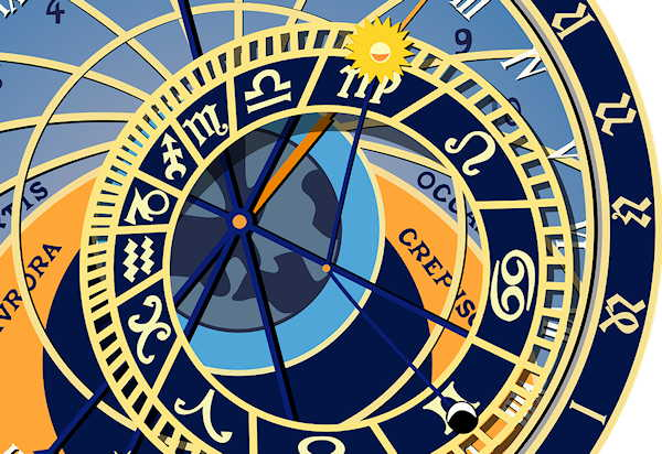 The Truth about Astrology and Horoscopes | astrological clock image