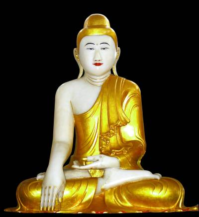 The Eightfold Path of Buddha | Gold buddha | 400 image