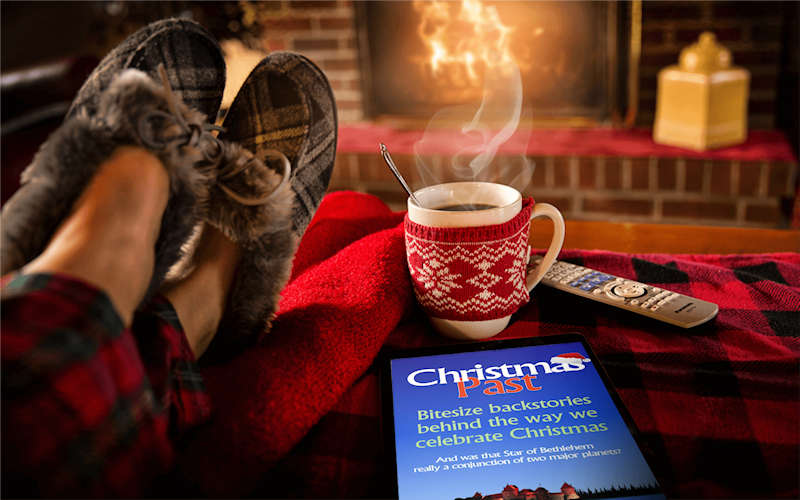 Christmas Past book   coffee and slippers 800x96 image